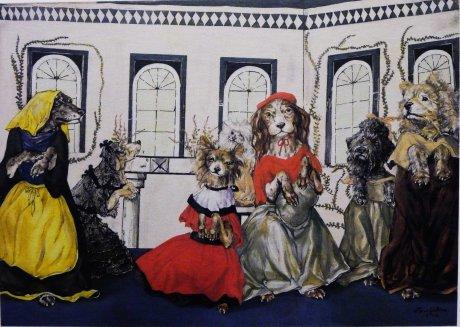 Pola Museum of Art Leonard Foujita The Waltz of the Dogs 1958