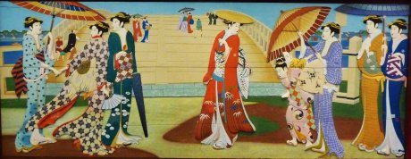 oiran wood relief 04