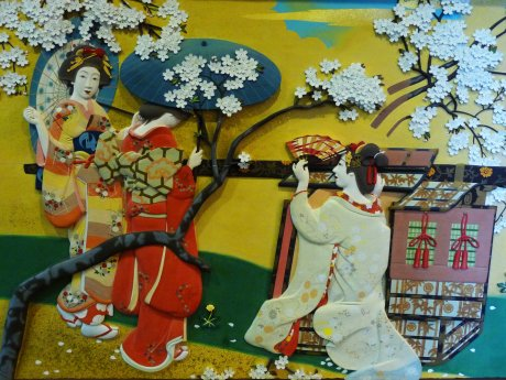 oiran wood relief 10