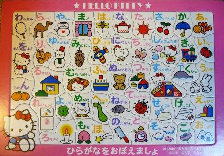 Hello Kitty hiragana