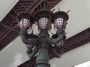 lamps on bridge near Mitsukoshi, Nihombashi